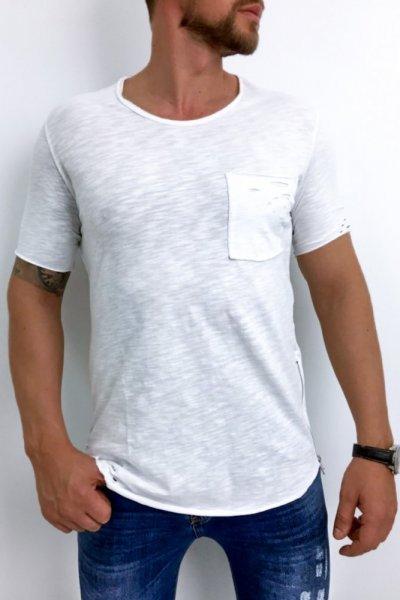 T shirt męski 20-Y027 biały