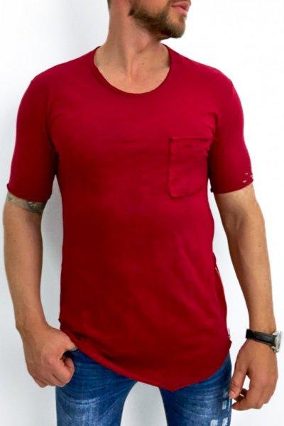 T shirt męski 20-Y027 bordo