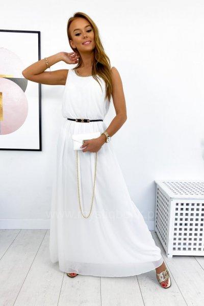 Sukienka MAXI elegant - white