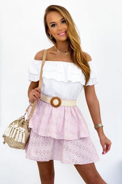 Spódnica ażurowa COMPLETO - pink