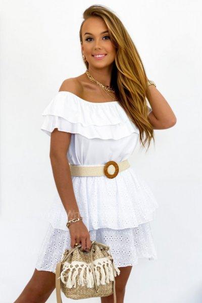 Spódnica ażurowa COMPLETO - white