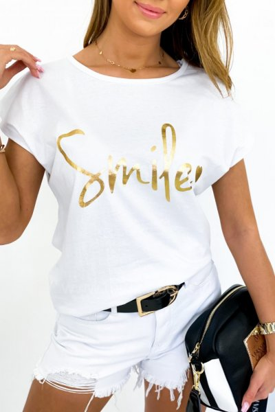 T-shirt SMILE - white