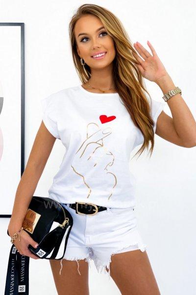 T-shirt HEART - white