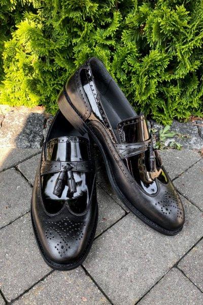 Buty męskie mokasyny czarne H20