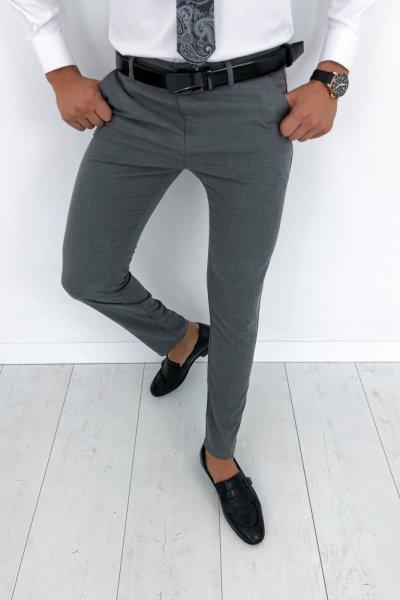 Spodnie męskie materiałowe - Grafit H59
