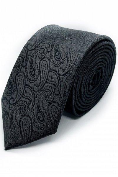 Krawat męski czarny , wzór