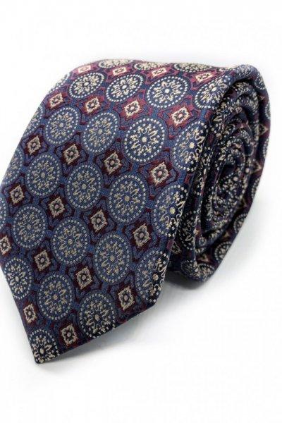 Krawat męski fiolet w kółka