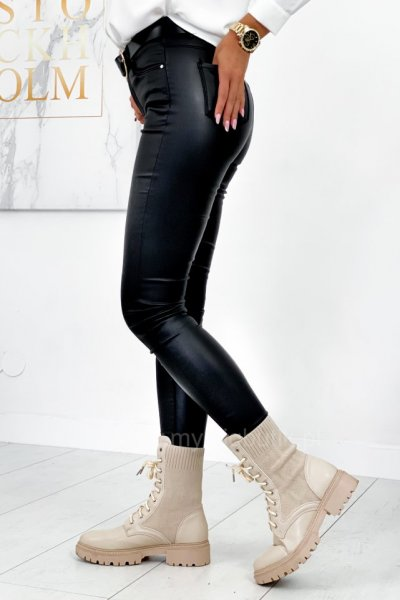 Spodnie woskowane - black