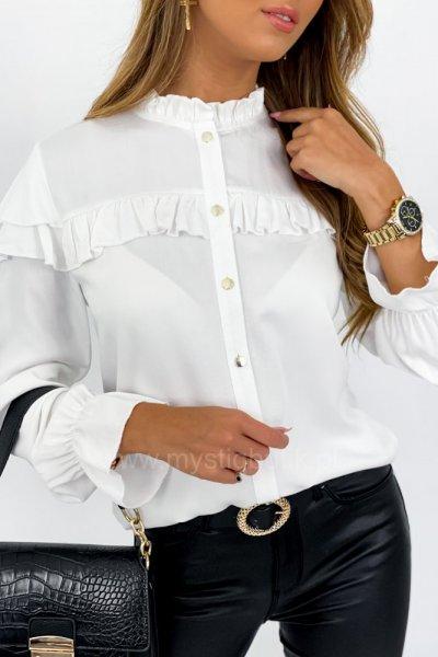 Koszula ze stójką - złamana biel