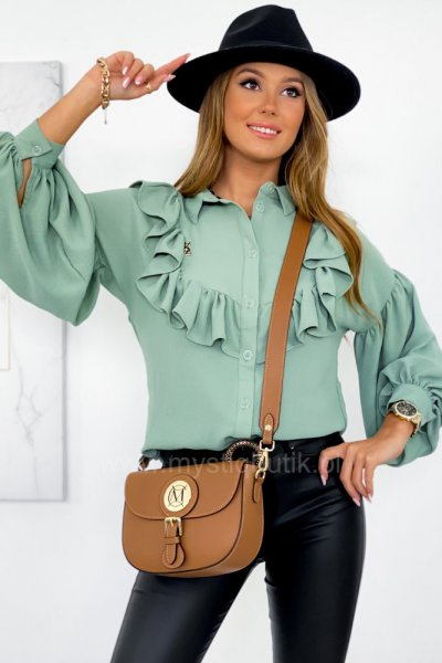 Bluzka STL żabot - green