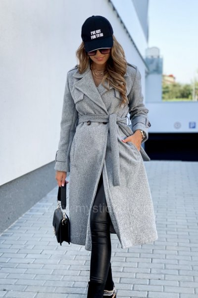 Płaszcz ELI LONG - grey