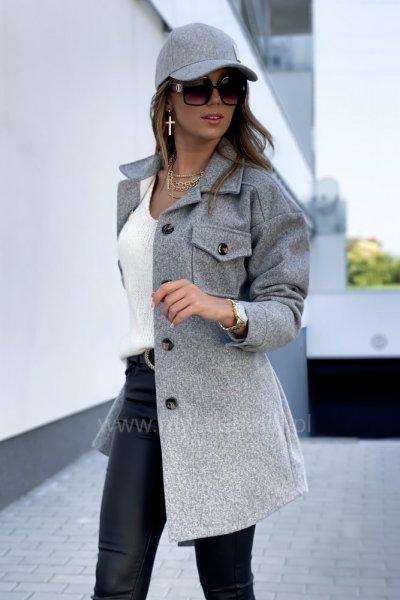 Płaszcz ELI - grey short