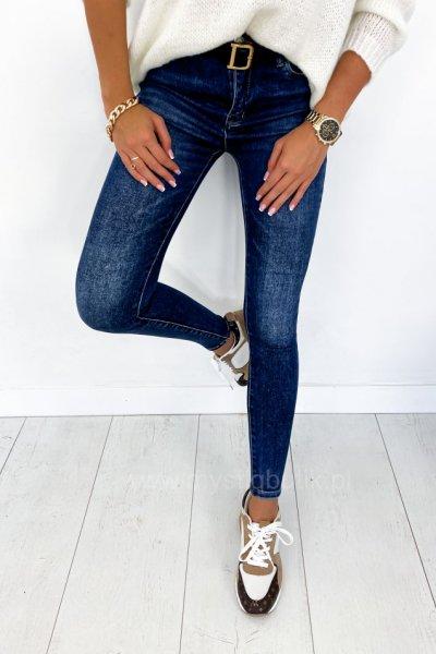 Spodnie Push Up - dark blue