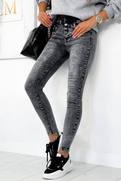 Spodnie jeans MISSIS - grey
