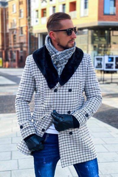 Płaszcz męski dwurzędowy wzór H12
