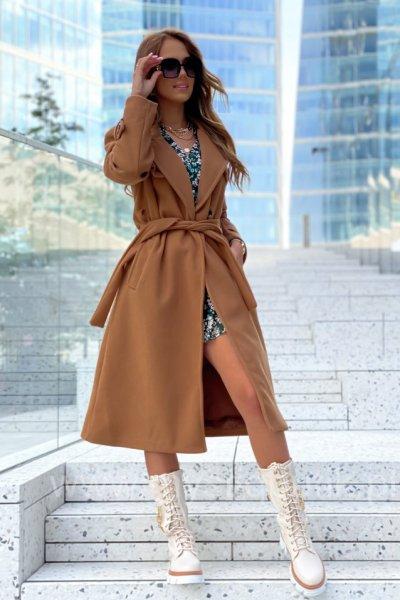 Płaszcz ELI LONG - camel