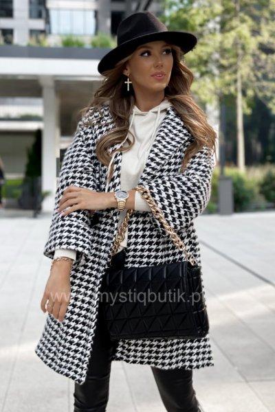 Płaszcz GRACE pepitka - black/white