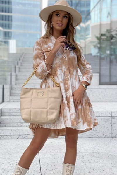 Sukienka jeansowa WESTIN - beige/ecru