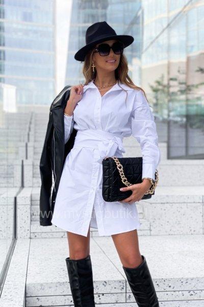 Sukienka koszulowa SARA - white