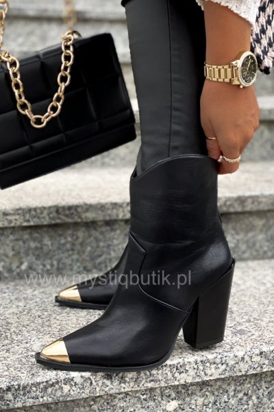 Botki/kowbojki IDEAL - black