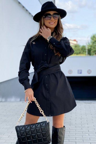 Sukienka koszulowa SARA - black