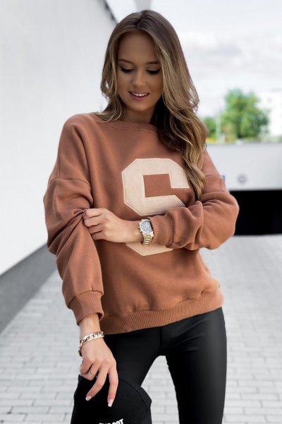 Bluza ocieplana S - camel