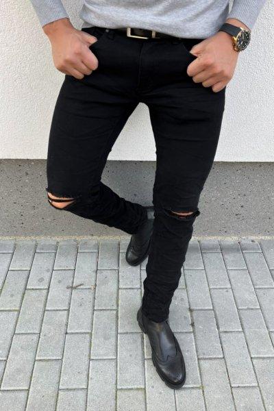 Spodnie męskie jeansowe czarne - E7169