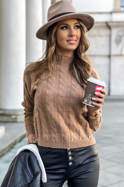 Sweter ALICE - kamel