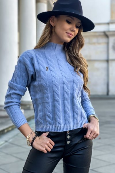 Sweter ALICE - niebieski