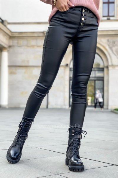 Spodnie WOSK wysoki stan - czarne