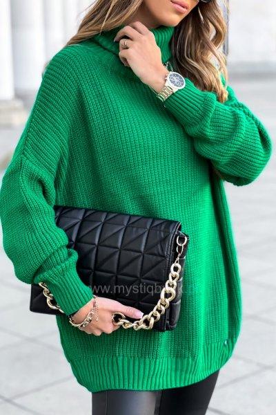 Sweter golf przedłużany SWEET - green