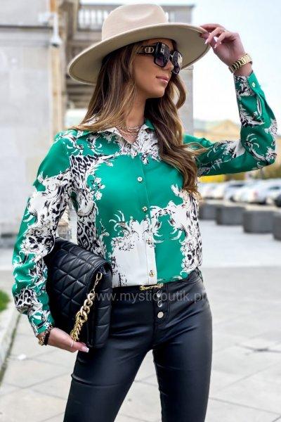 Koszula NOVA wzory - green