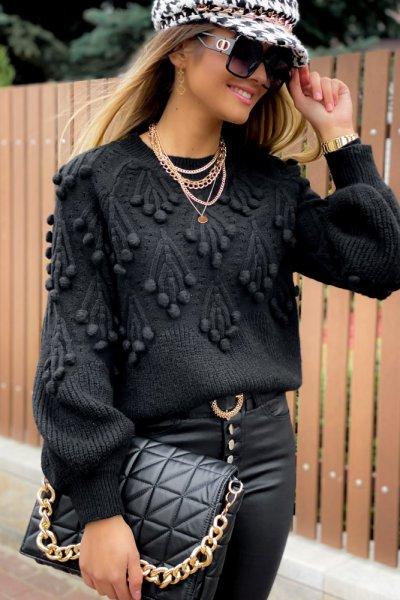 Sweter POPPI 2 lux - black