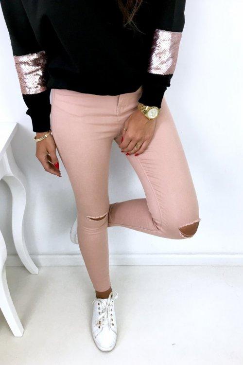 Spodnie/jeansy SKINNY - puder
