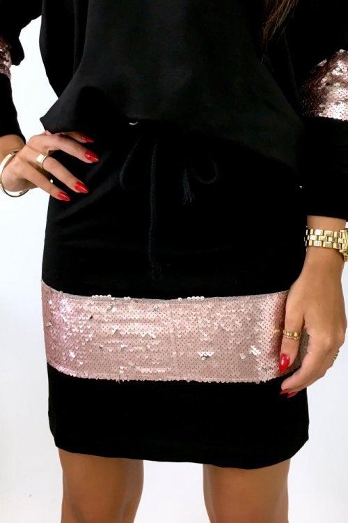 Spódnica bawełniana SHINE - black