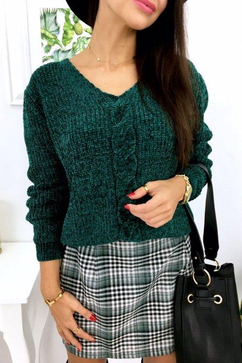 Sweter SOFTY w serek - green