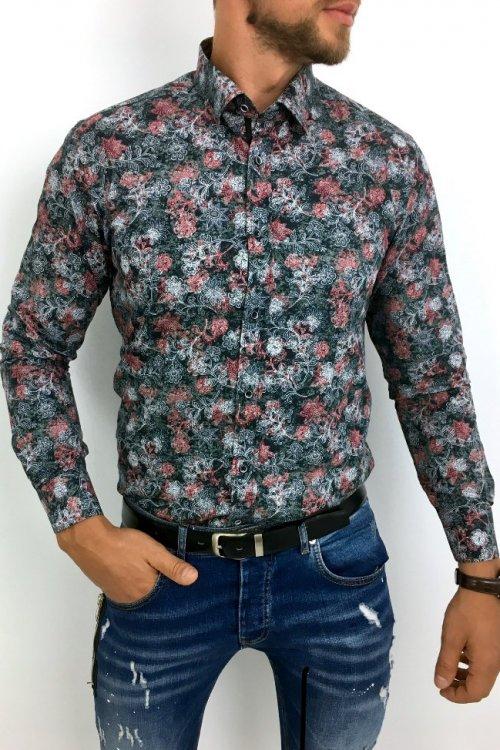 Koszula męska w kwiaty FP4