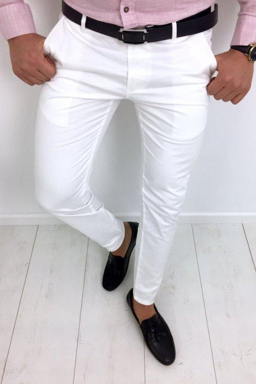 Spodnie męskie białe White 2