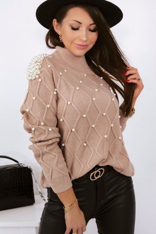 Sweter PEARL lux - camel